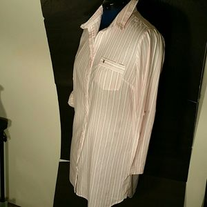Victoria's Secret Long Striped Shirt. M